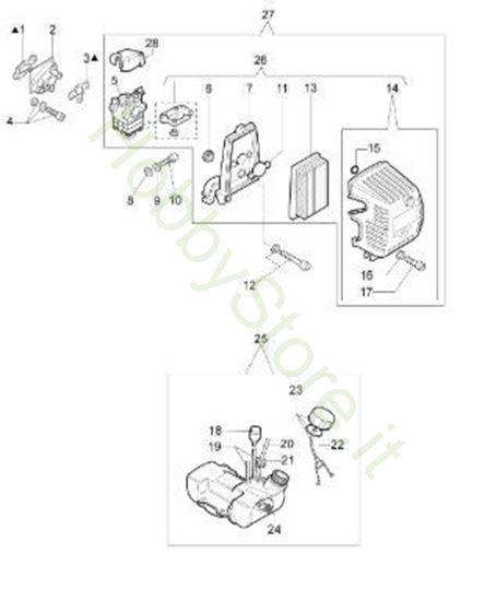 Serbatoio e filtro aria per 446 BP Ergo
