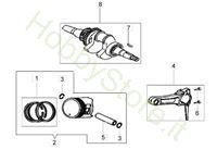 Albero e pistone per motozappa MH 175 RK (K800 HT)