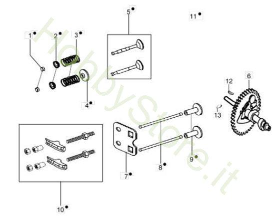 Valvola e regolatore per motozappa MH 175 RK (K800 HT)
