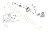 Serbatoio e filtro aria per BCF 430