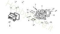 Testa cilindro per motozappa MH 175 RK (K800 HT)
