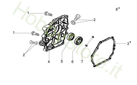 Coperchio basamento per motozappa MH 175 RK (K800 HT)