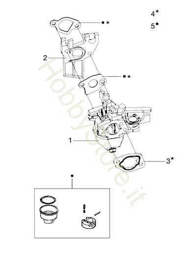 Carburatore per MH 175 RK (K800 HT)