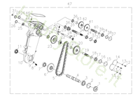 Ingranaggi 1/2 per MH 198 (K800 HC)