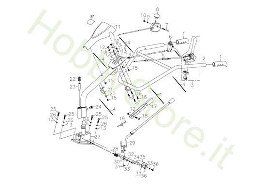 Manubrio per MH 198 RK (K800 HC)