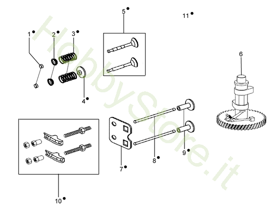Valvola e regolatore per MH 198 RK (K800 HC)