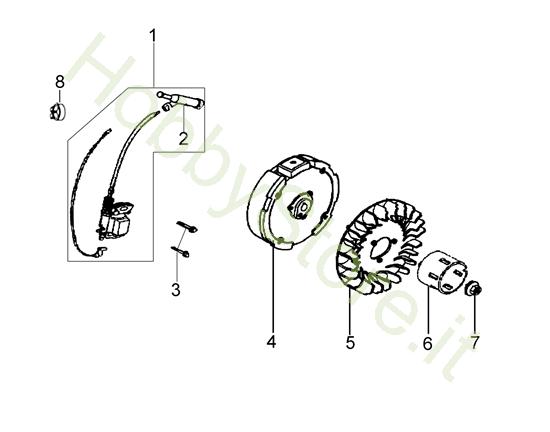 Volano e bobina per MH 198 RK (K800 HC)