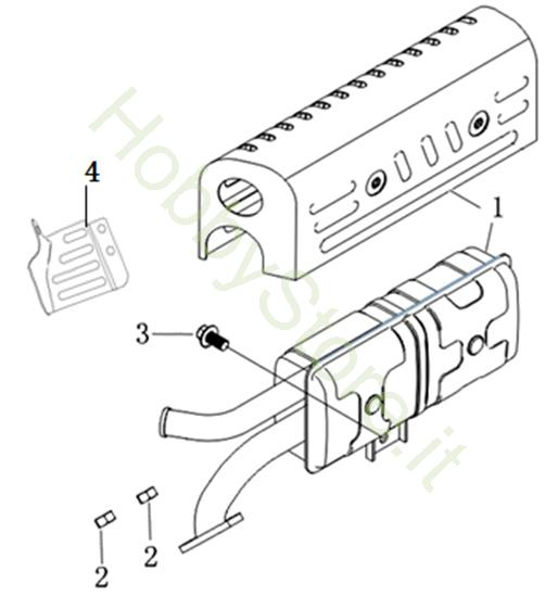 Marmitta per MH 198 RK (K800 HC)