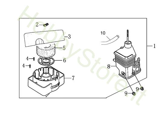 Filtro aria per MH 198 RK (K800 HC)
