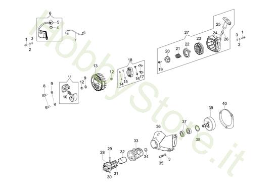 Avviamento e frizione per BC 430 S