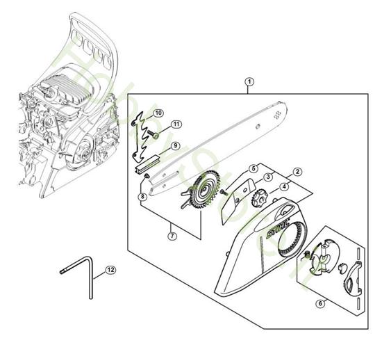 Filtro aria, manicotto elastico MS 181 Stihl