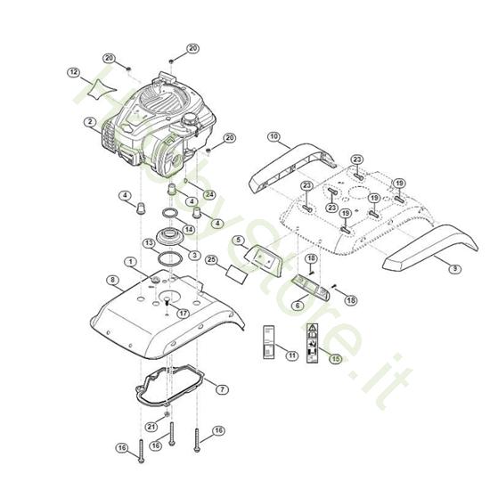 Copertura Motore Motozappa HB 445.2 Viking
