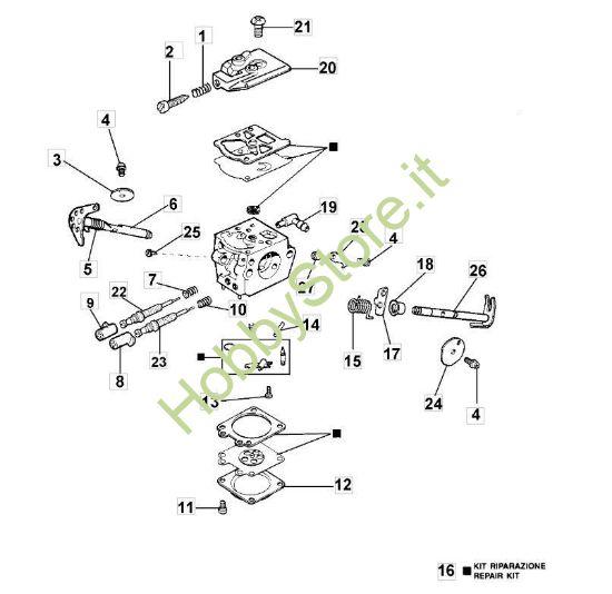Carburatore WT 536 e WT 562 per 936