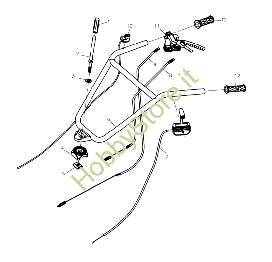 Manubrio per motozappa MH 175 RK (K800 HT)