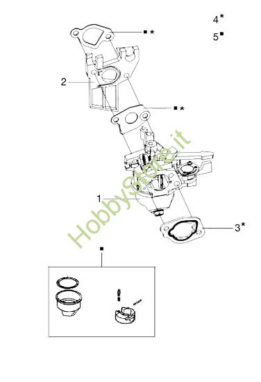 Carburatore per MH 198 RK (K800 HC)