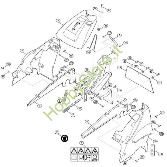 Telaio tosaerba MB 6.1 RV Viking