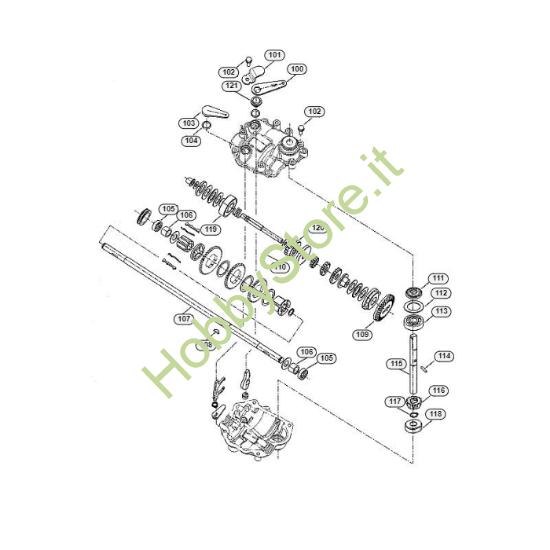 Riduttore rasaerba MB 750 GK