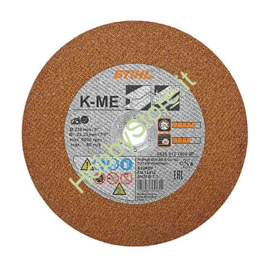 Disco Stihl resionoide in acciaio KM-E