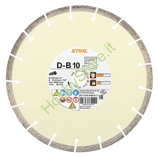 Disco Stihl diamantato D-B10